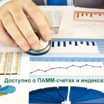 Доступно о ПАММ-счетах и индексах