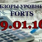 Обзор уровней FORTS 19.01.16